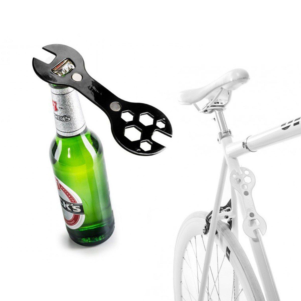 2i1-cykelskruenøgle og flaskeoplukker