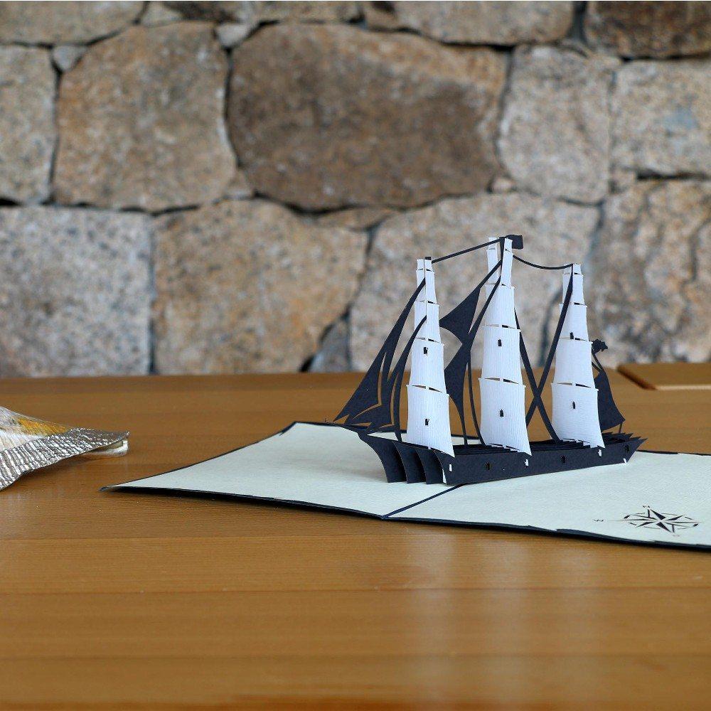3D-kort med pop up-skib