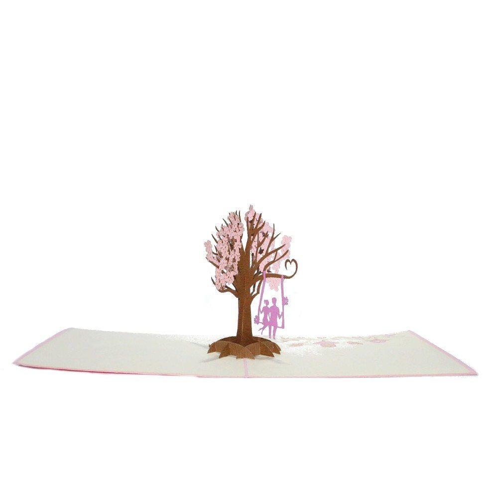 3D-kort med pop up-træ