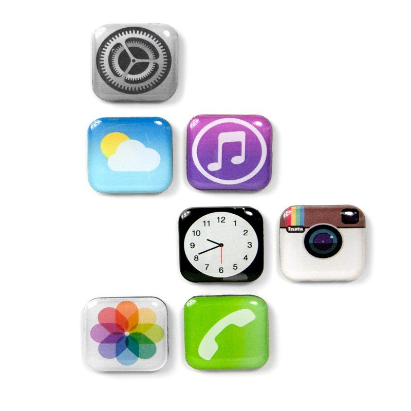 App ikon-magneter