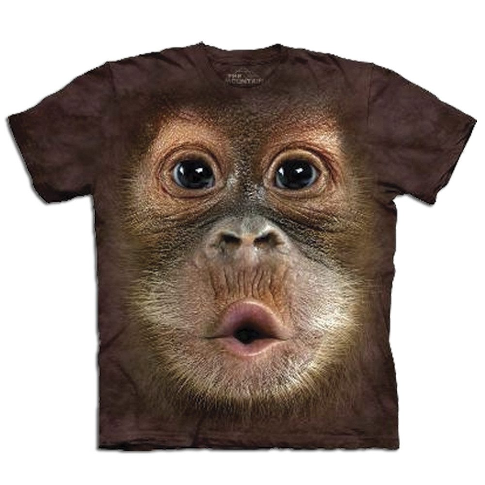 Big Face T-shirt med orangutangtryk