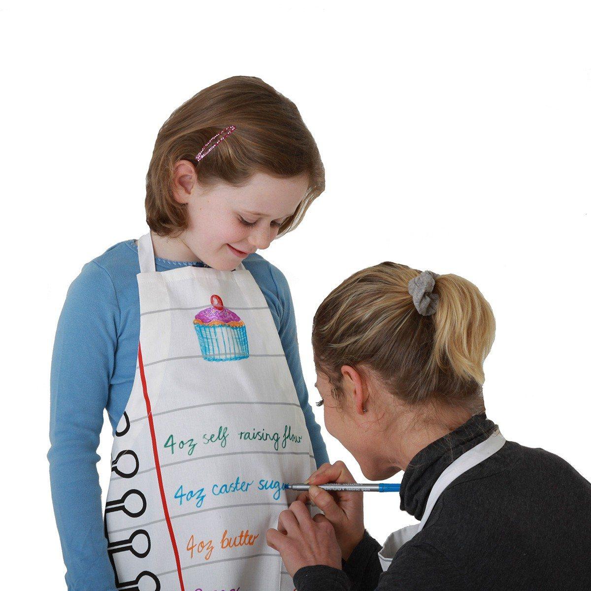 Børneforklæde man kan tegne på
