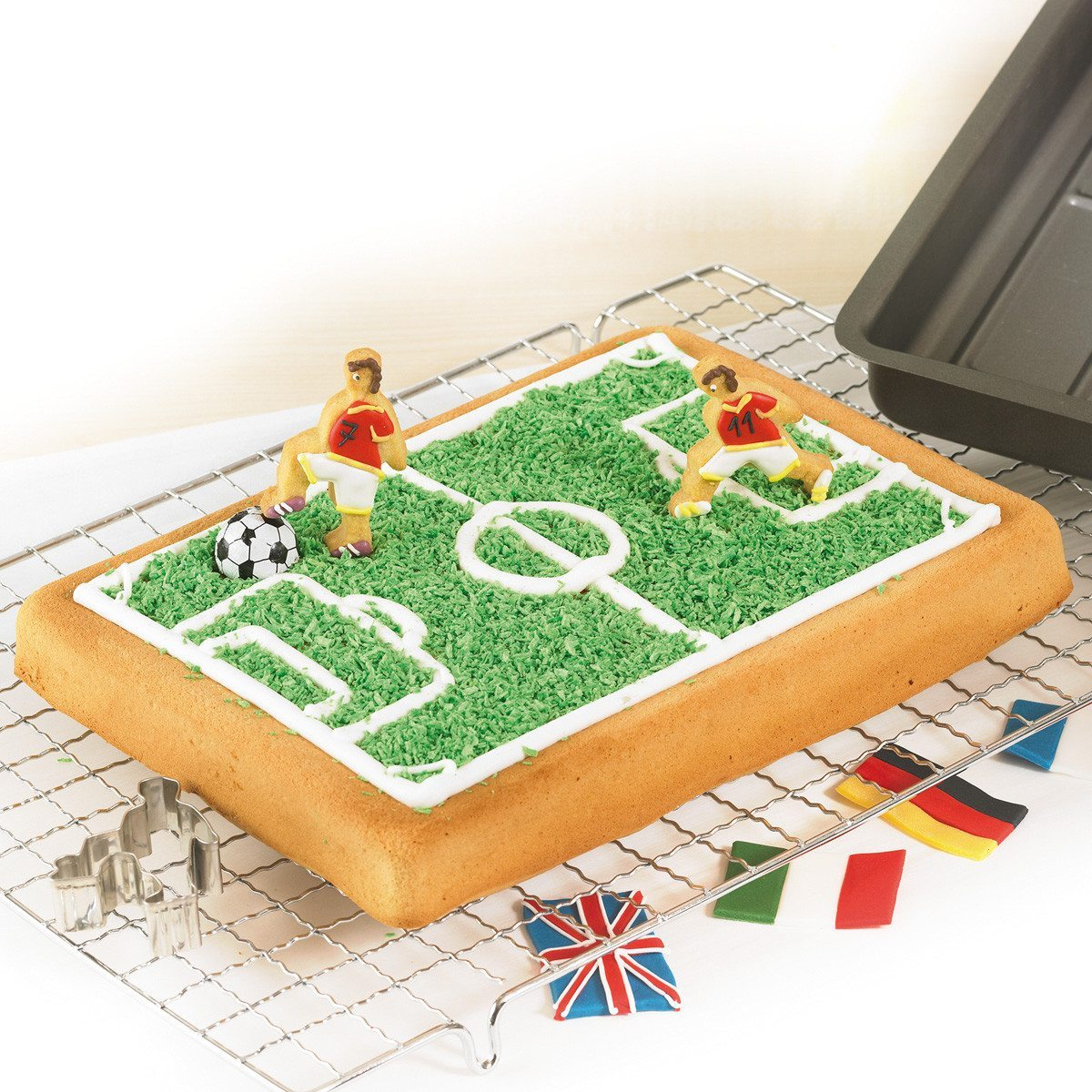Bradepande med fodboldbanetryk