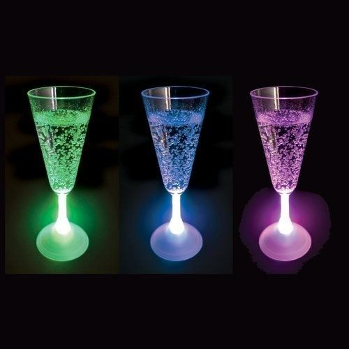Champagneglas med LED-lys