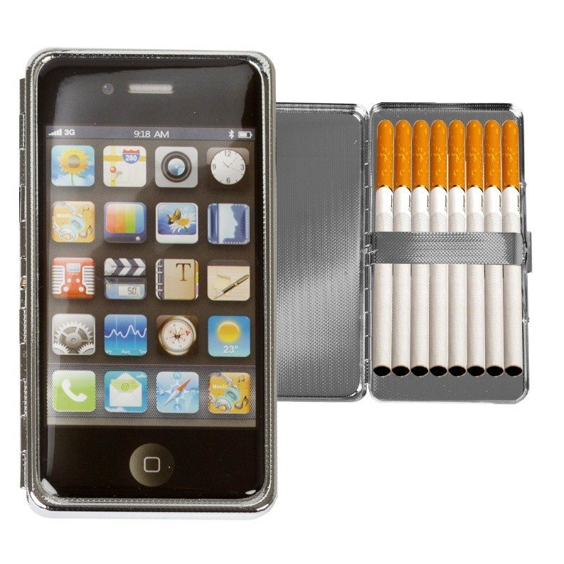 Cigaretetui med iPhone- eller kamera-look