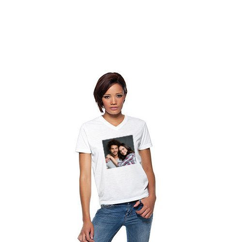 Dame T-shirt med personligt foto