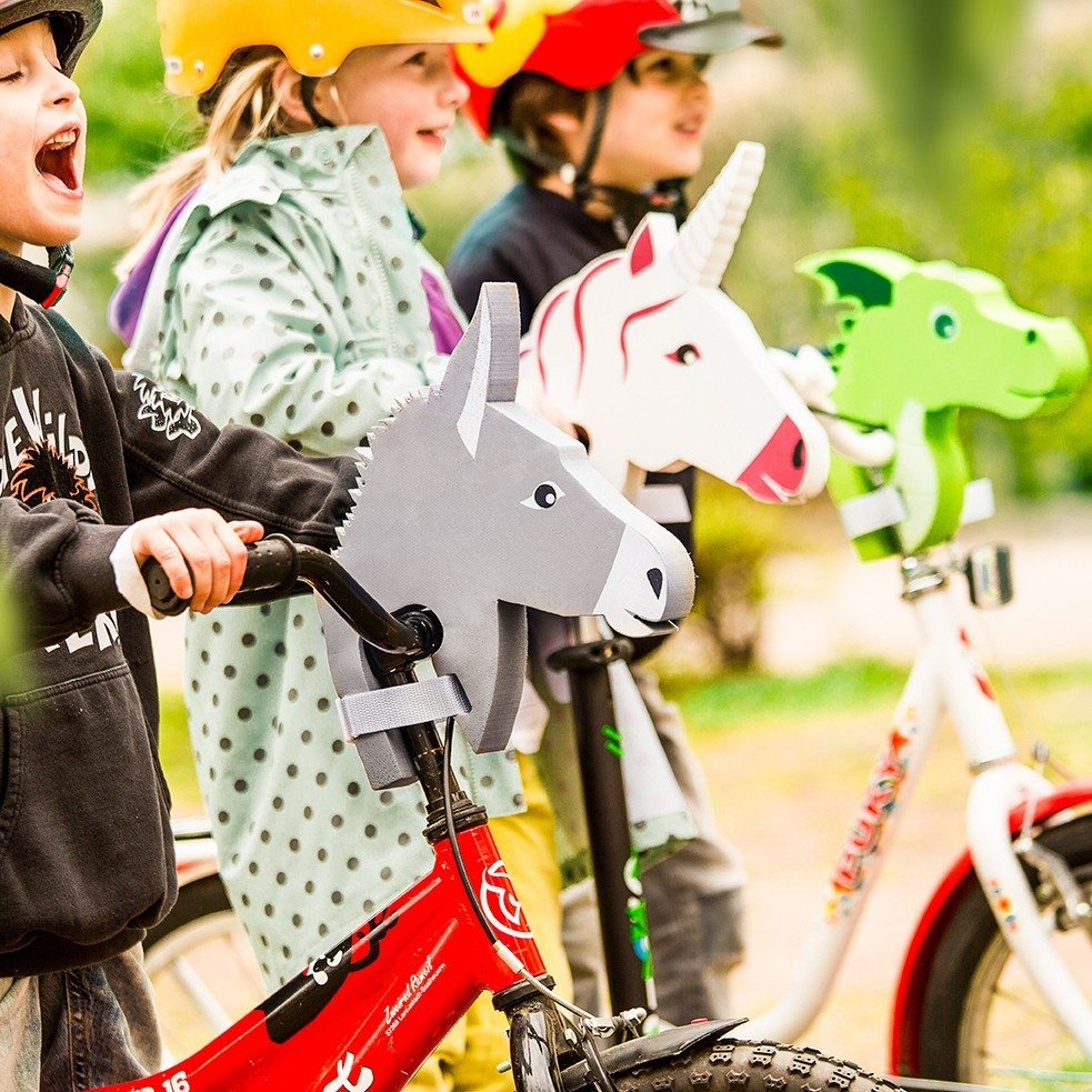 Dekorations-dyrehoved til cykelstyret