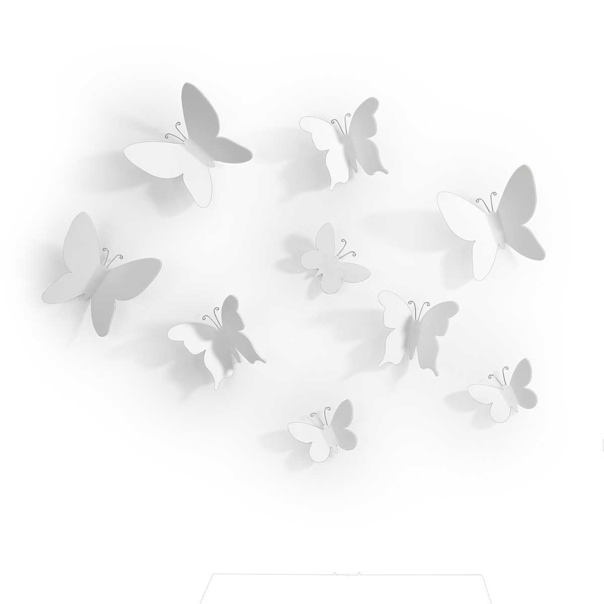 Dekorationssommerfugle til væggen