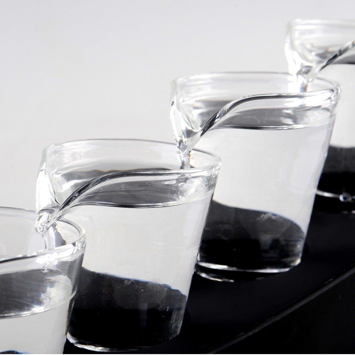 Domino-shotsglas - shotsæt med 5 glas