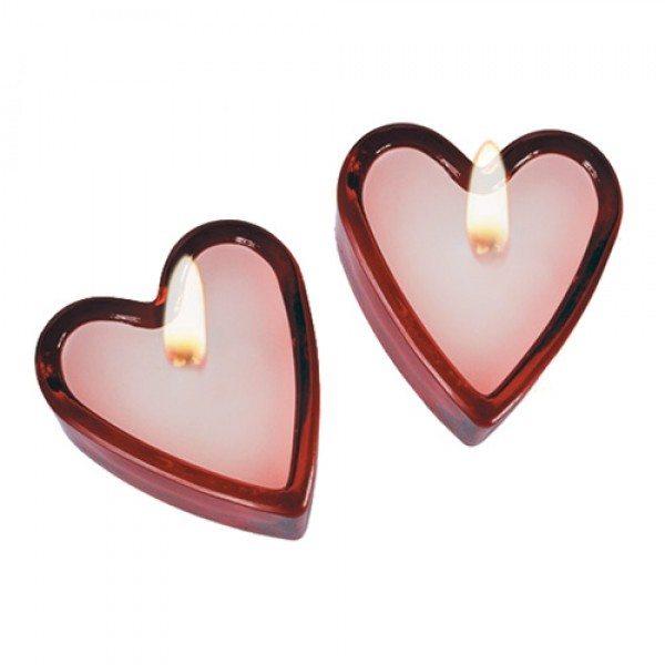 Duftlys i hjerteform