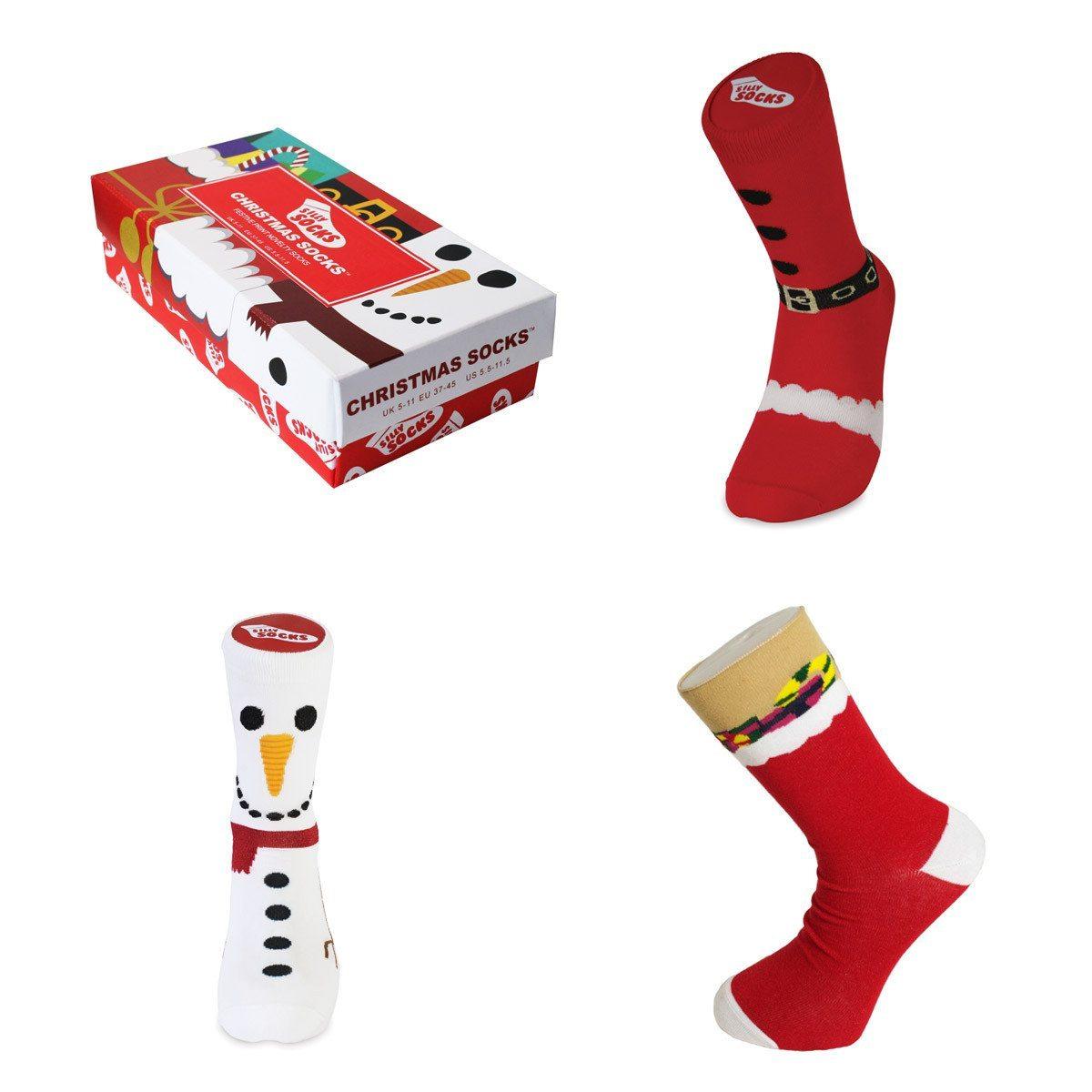 Farvestrålende julesokker