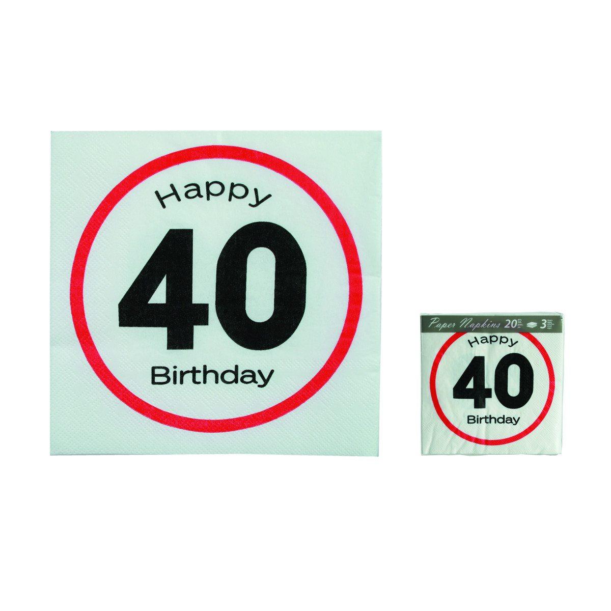 """Fødselsdagsservietter med """"trafikskilt"""""""