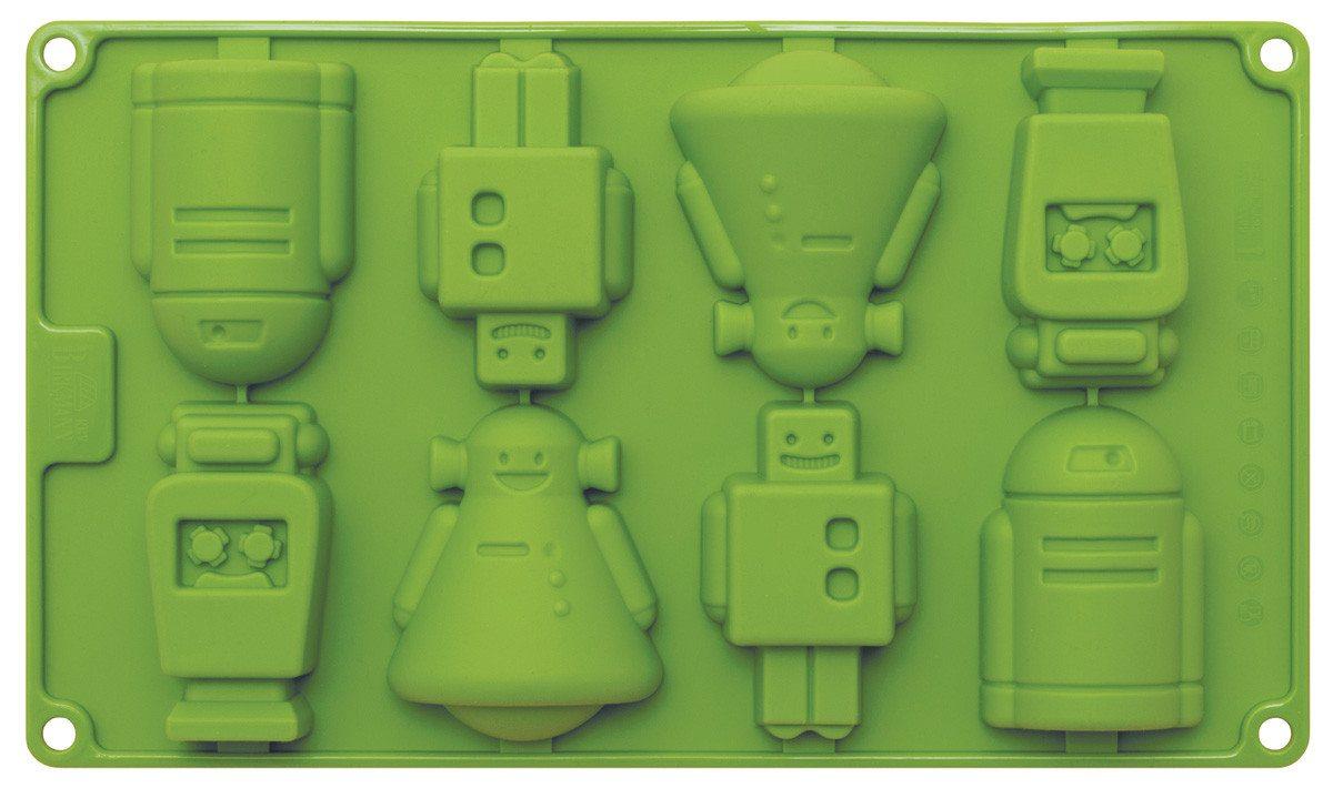 Form til cakepops med små robotter