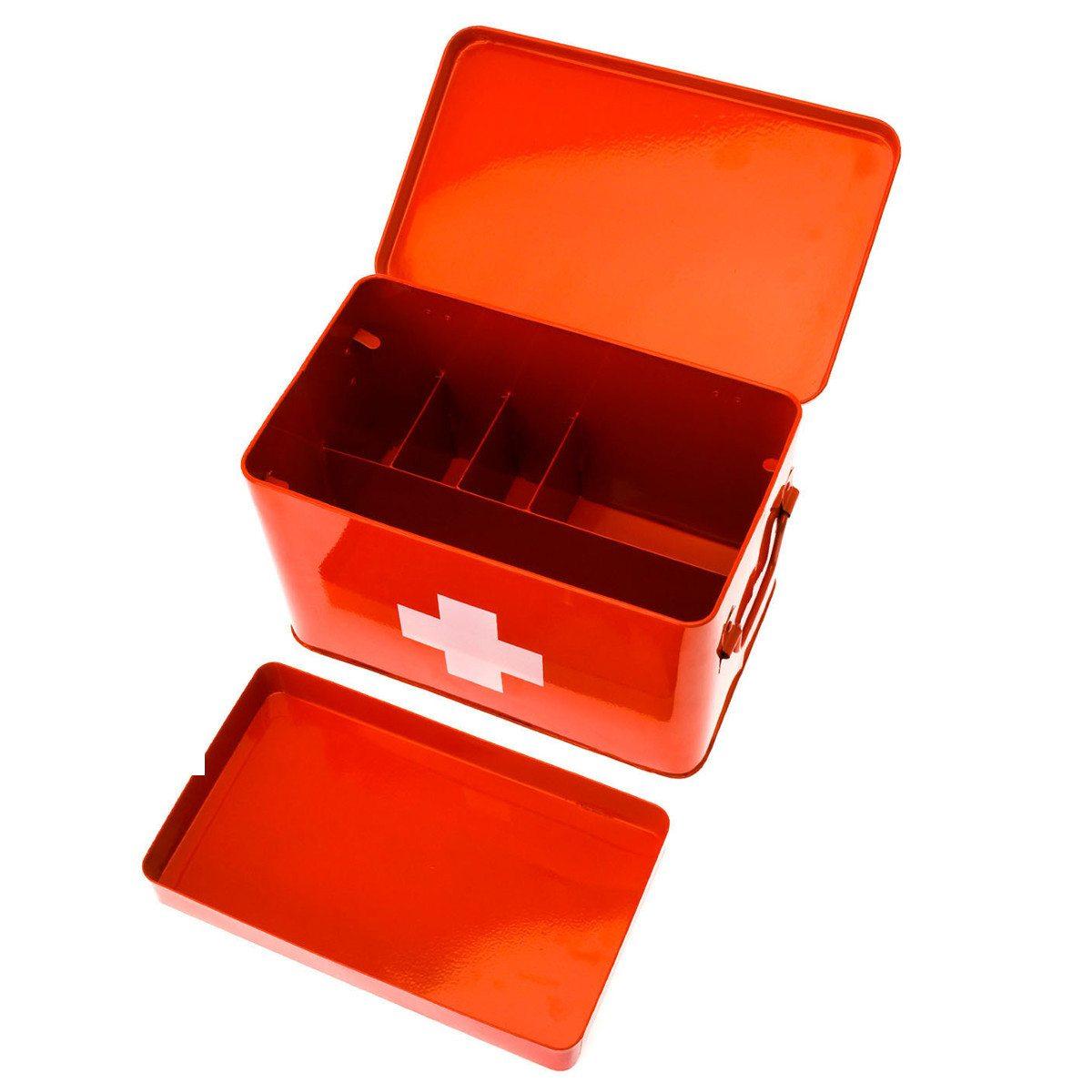 Førstehjælpskasse med hvidt kors motiv