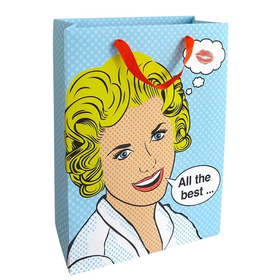 Gavepose med flot Pop Art Lady