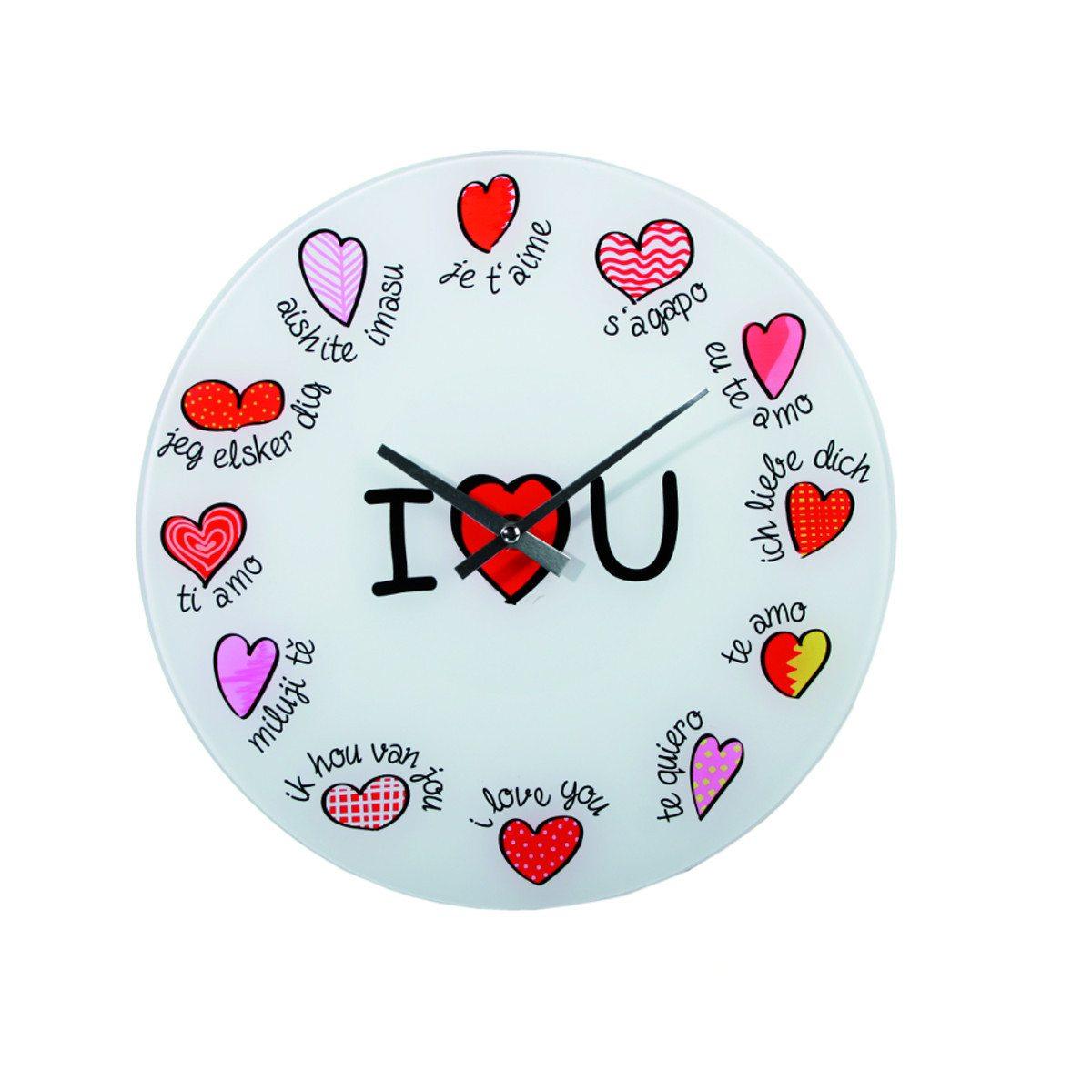 """Glasur med """"I ♥ U"""" på forskellige sprog"""