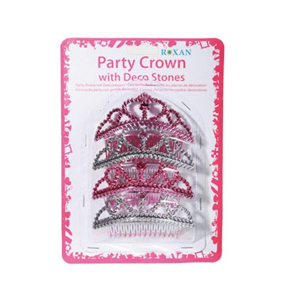 Glitterdiademer i pink og sølv