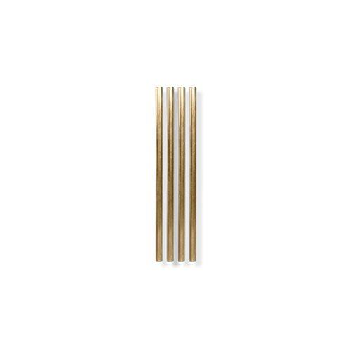 Goldene Strohhalme (4er-Set) - vertikal