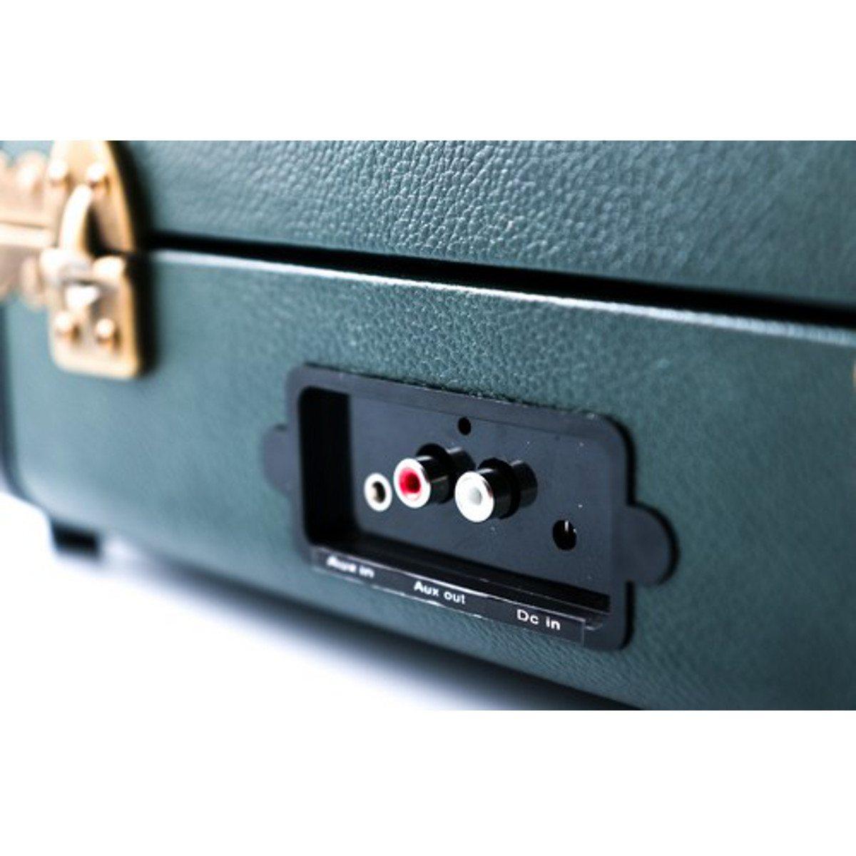 GPO Ambassador - Bluetooth Koffer-Plattenspieler Grün-Schwarz