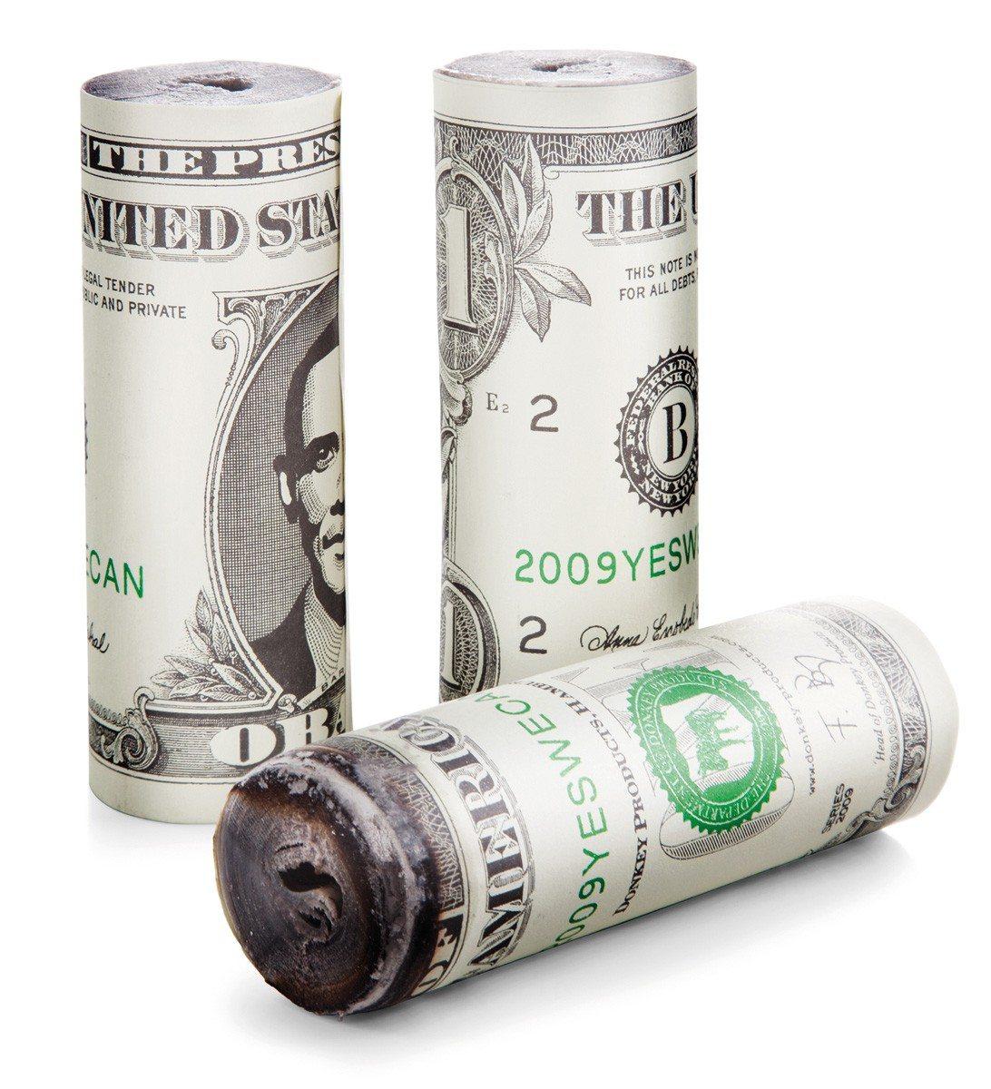 Grilltænder med pengemotiv