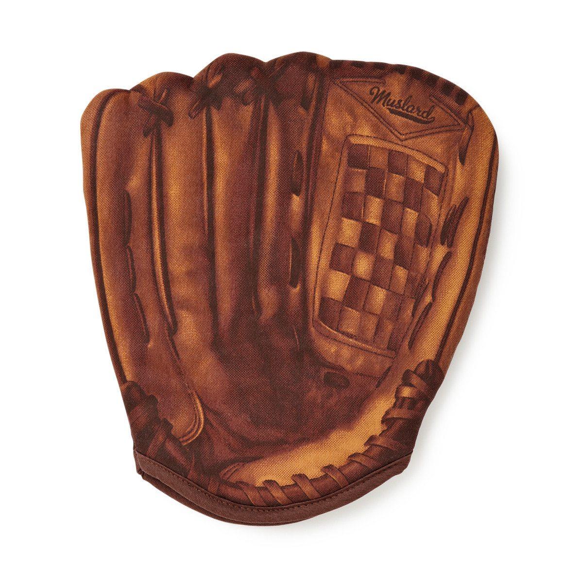 Grydelap formet som baseballhandske