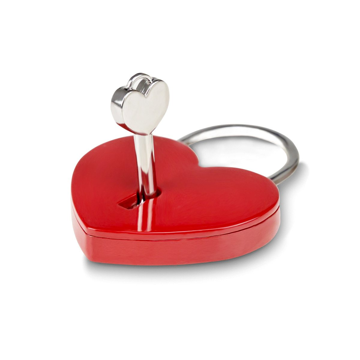 Hjerteformet hængelås med indgravering