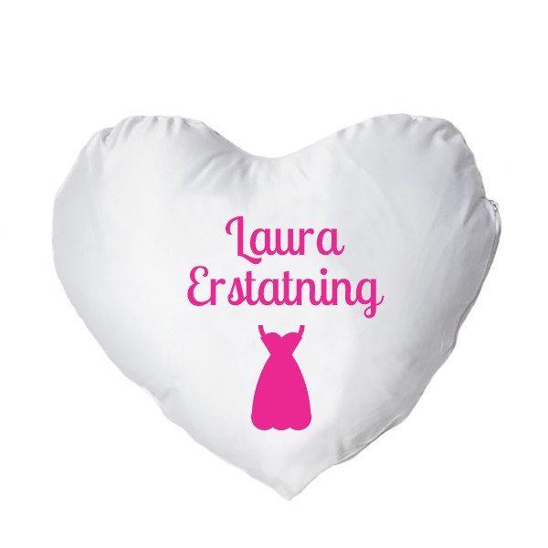 Hjertepude med tryk - pink - kvinde