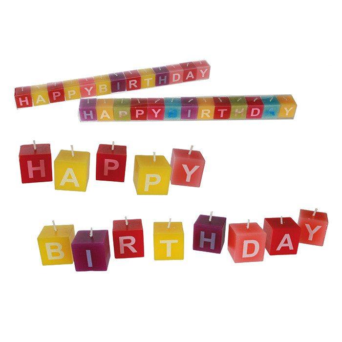 "Kerzen ""Happy Birthday"""