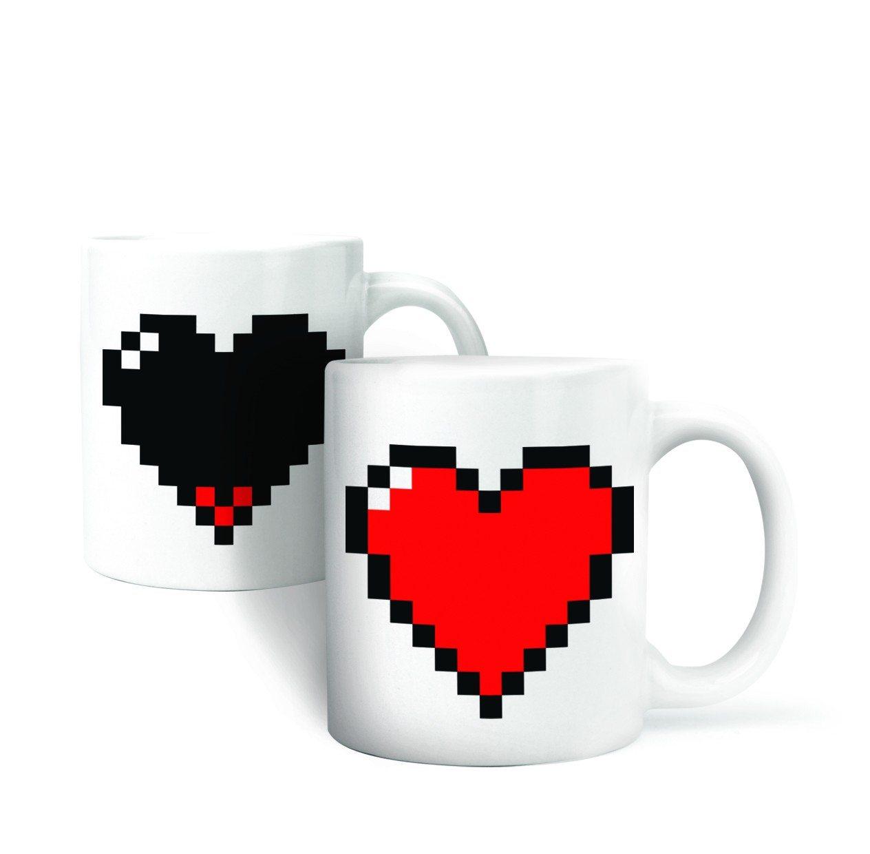 Kop med pixel-hjerte