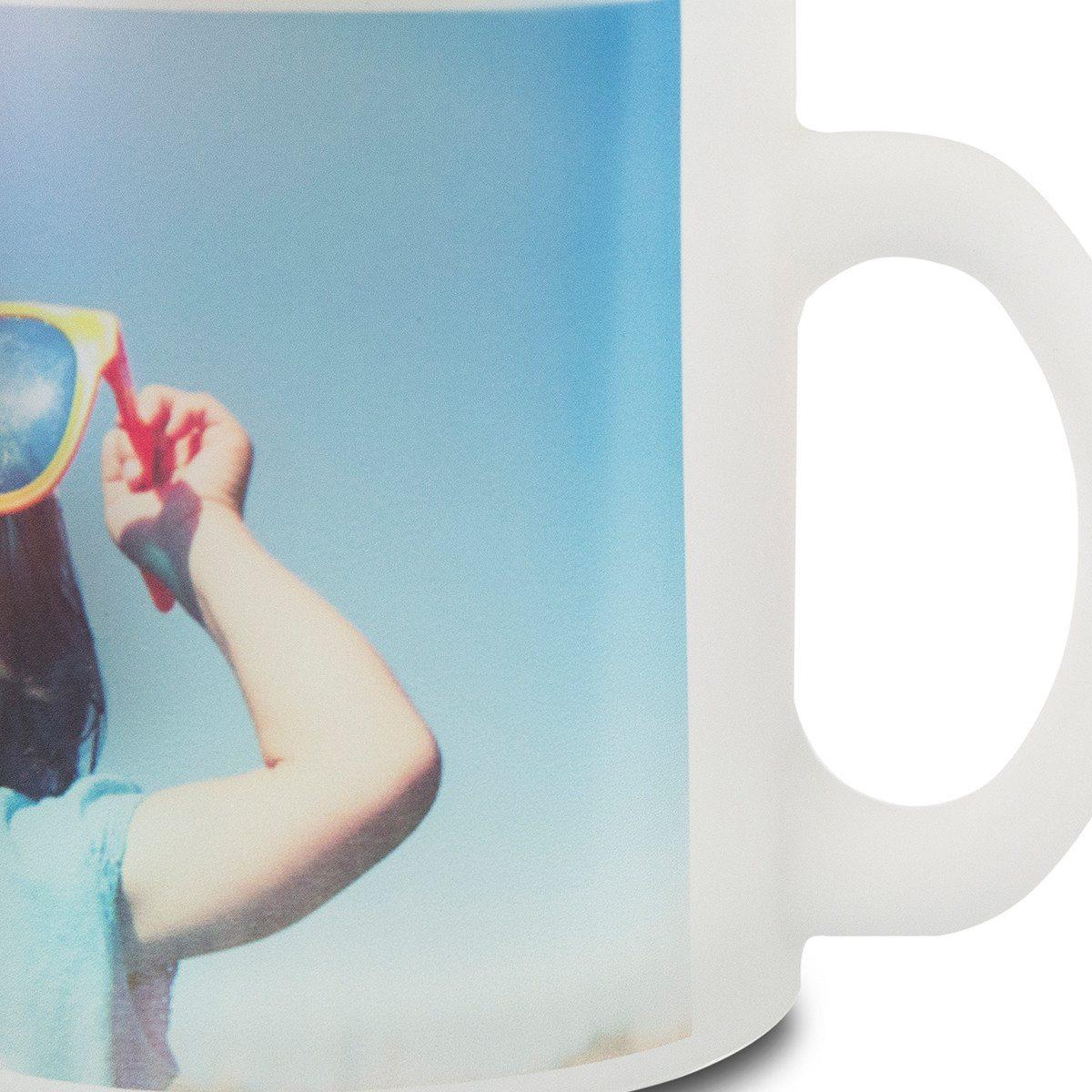 Krus af satineret glas med foto