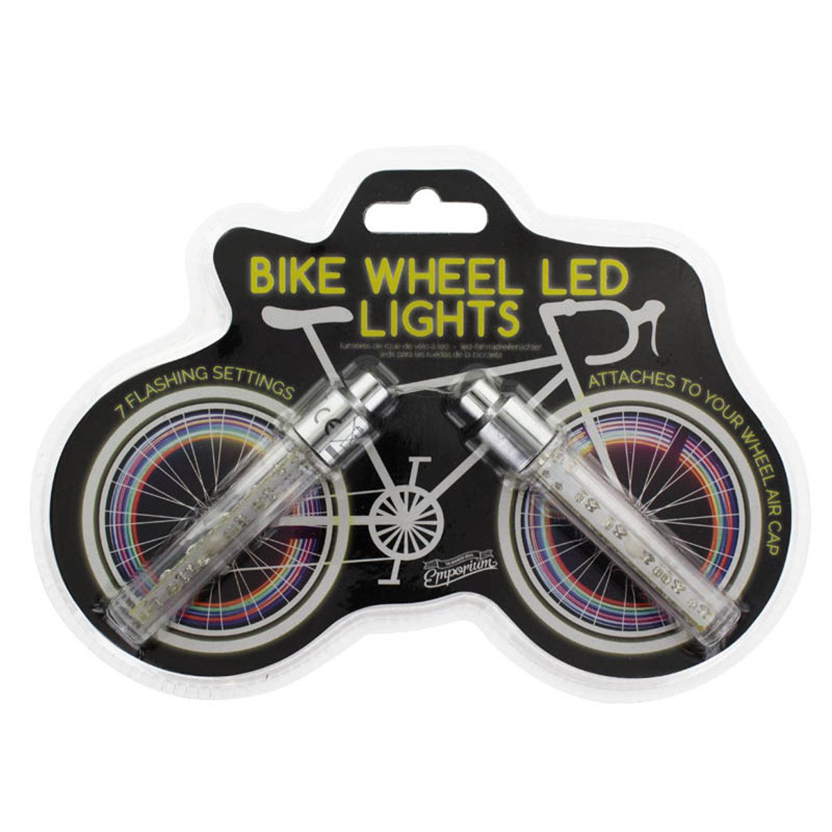 LED-lys til cykelhjulets eger