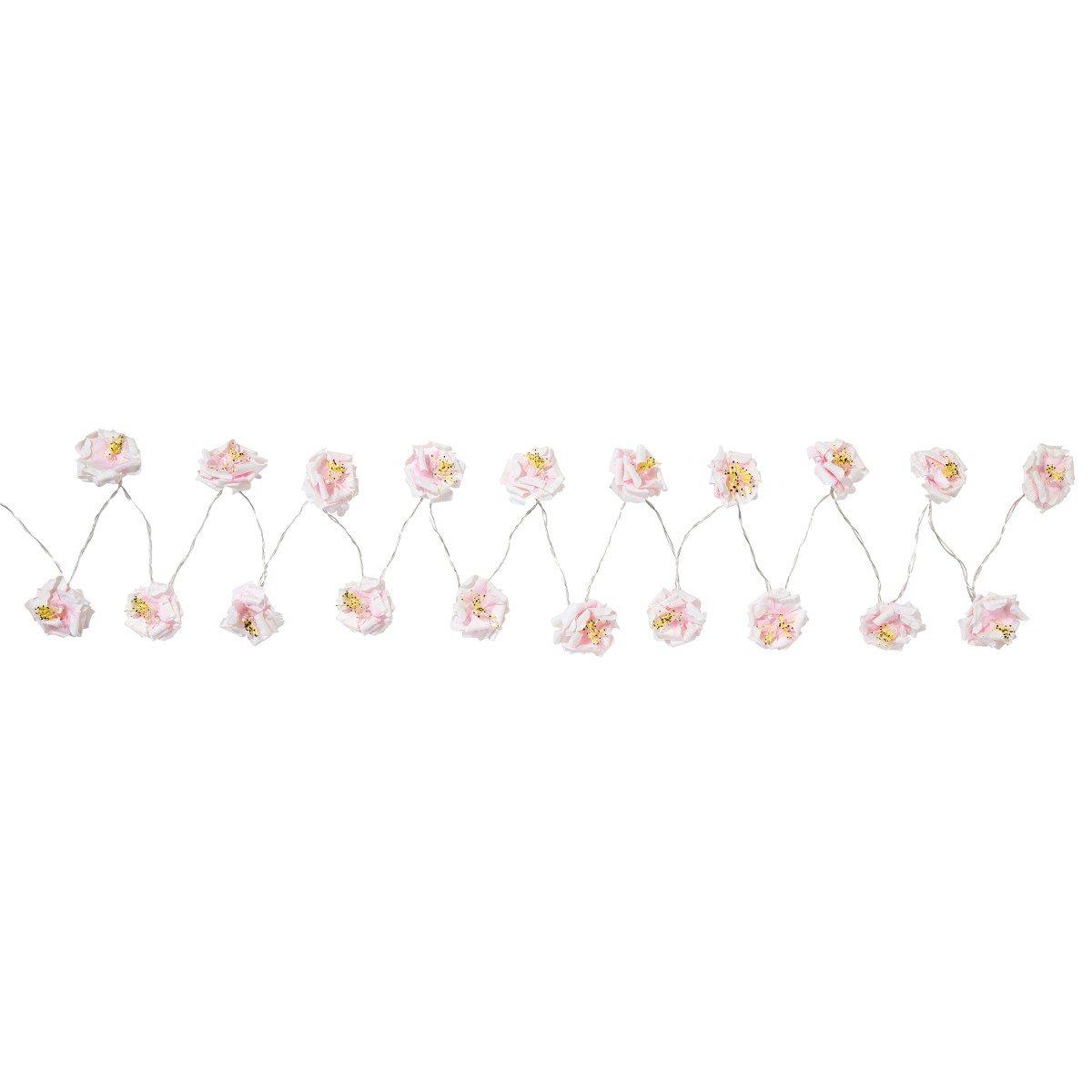 Lyskæde med blomster