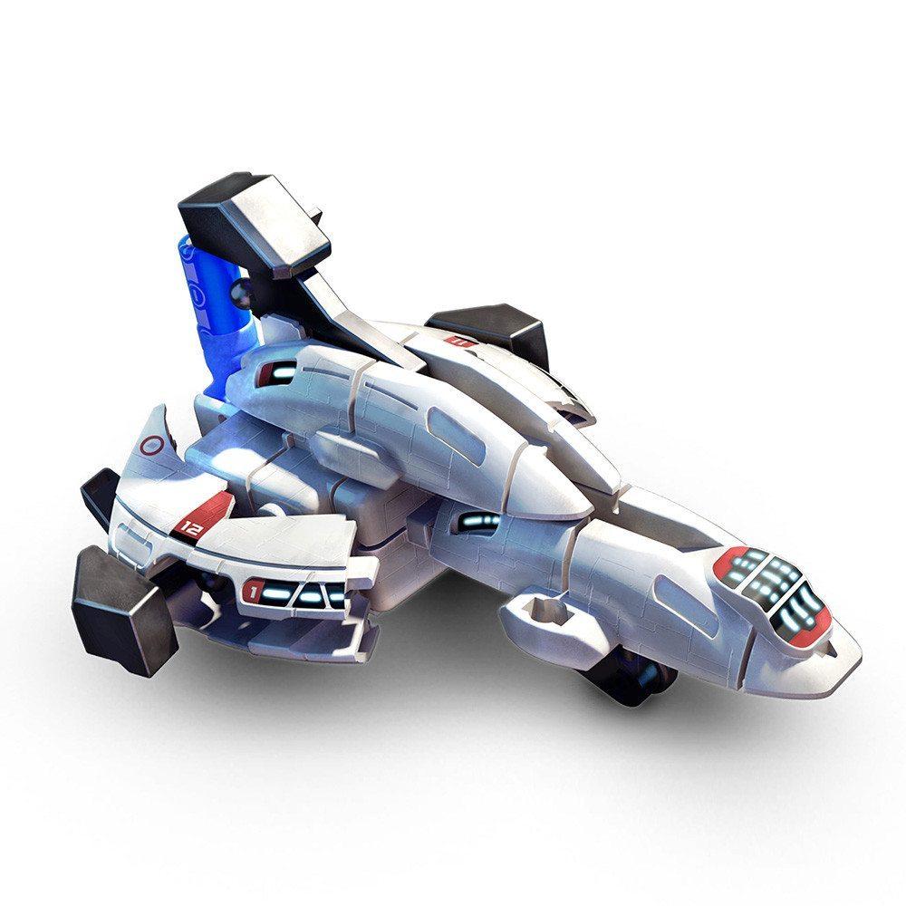 Modelbyggesæt med rumskibsflåde
