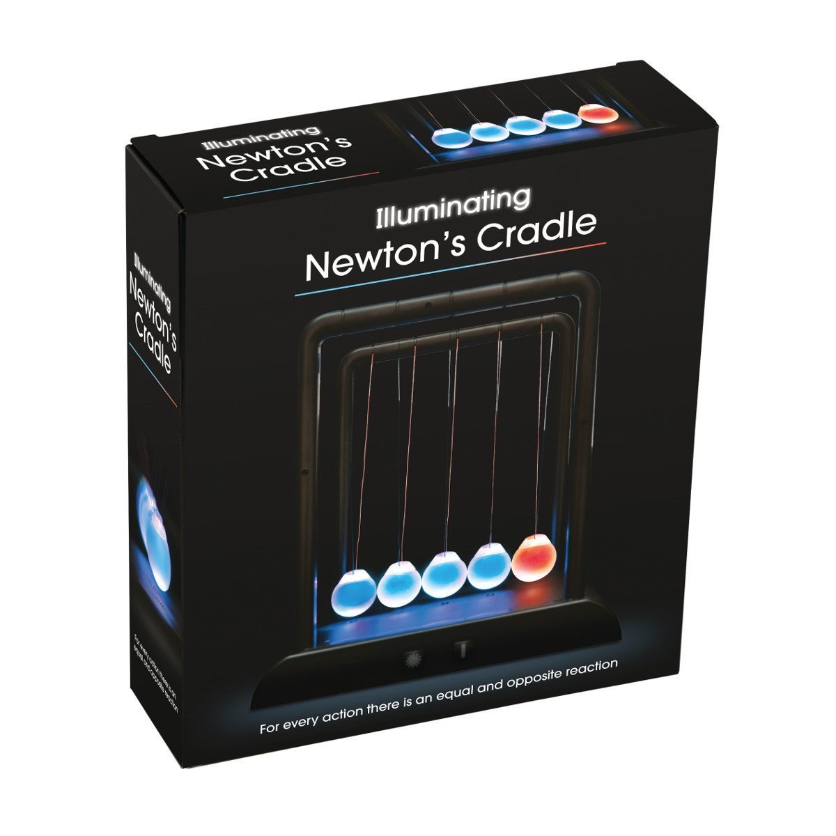 Newtons vugge med LED-lys