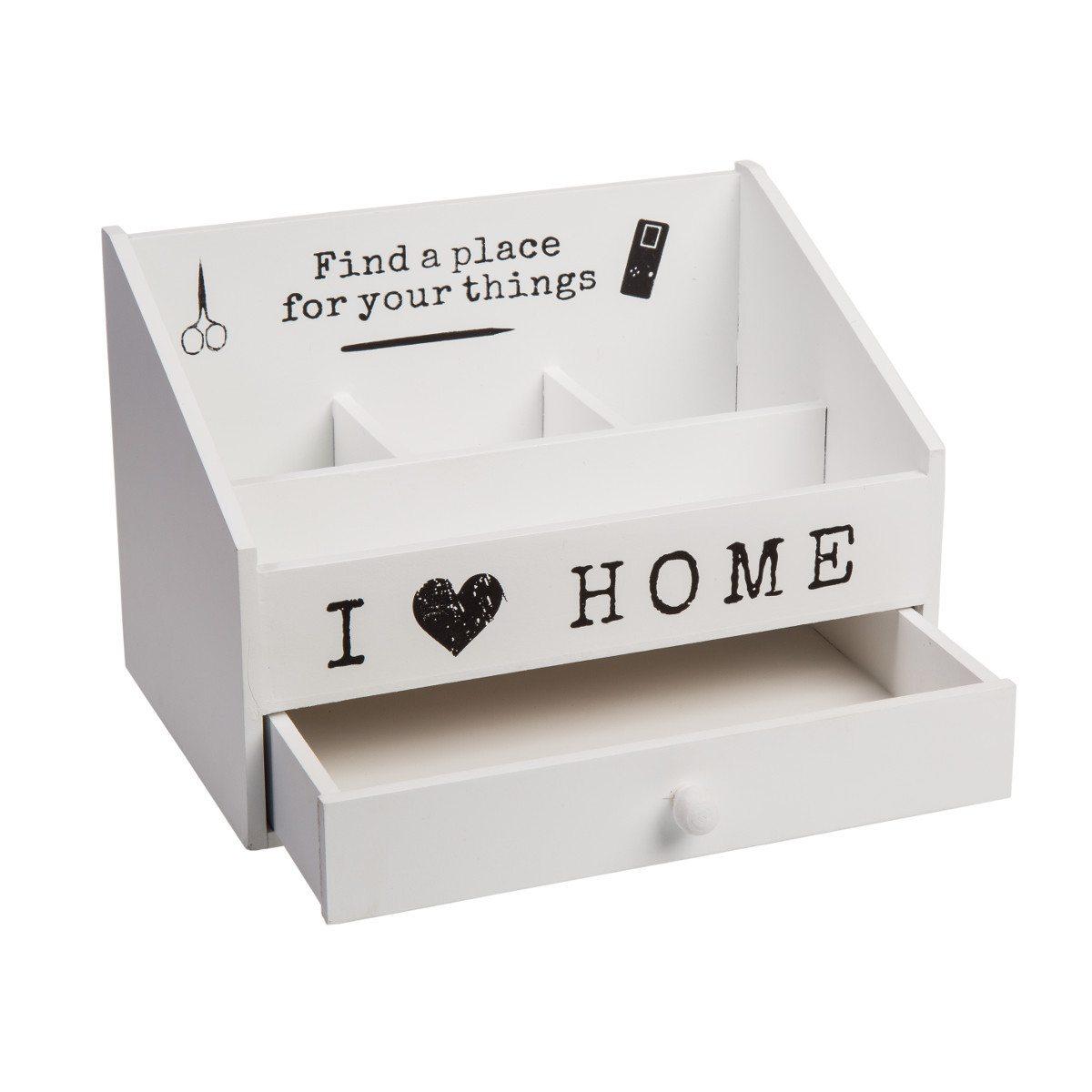 "Opbevaringskasse med teksten ""I love home"""