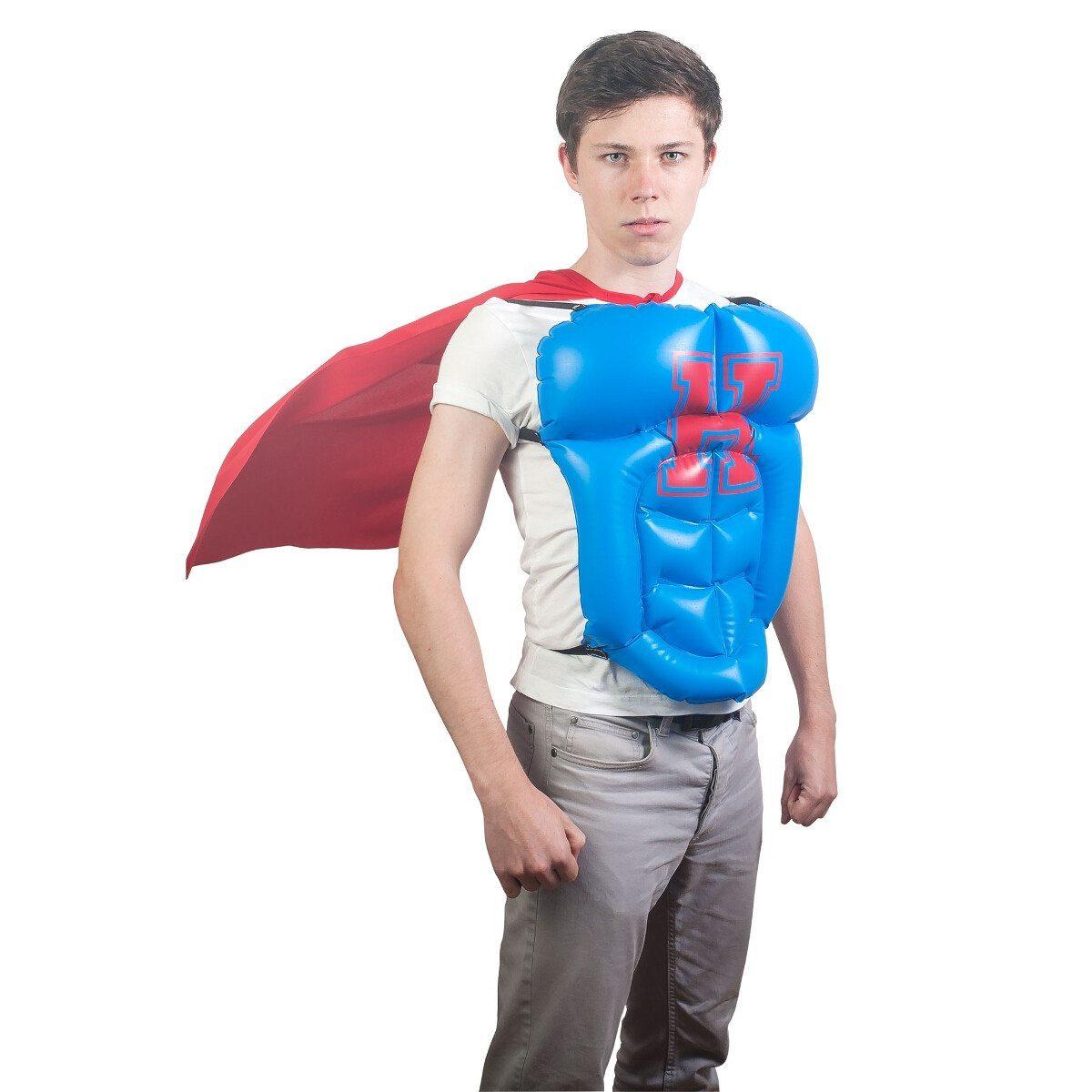 Oppusteligt superheltekostume