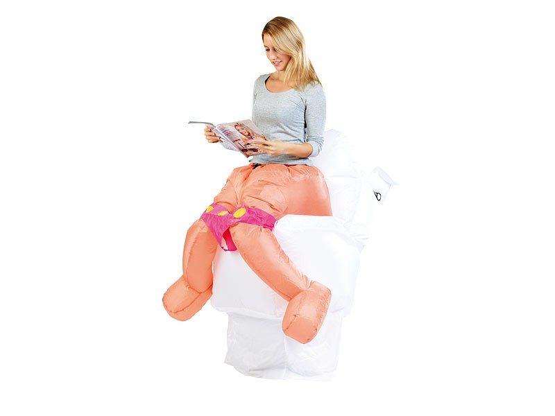 Oppusteligt toiletkostume