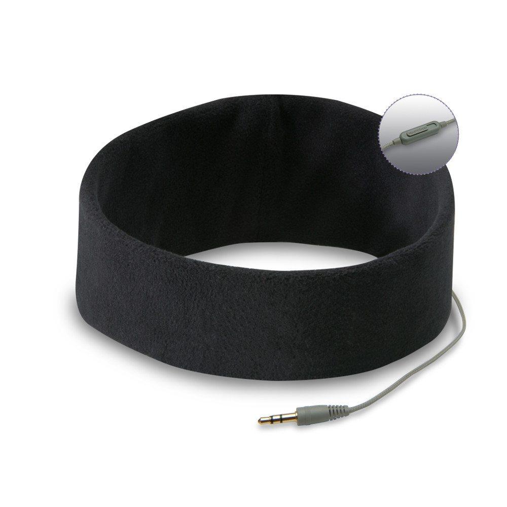 Pandebånd med indbyggede høretelefoner (sort)