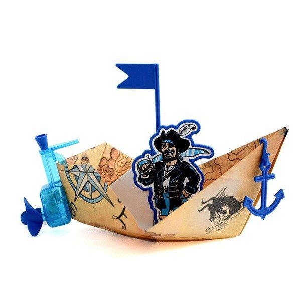 Papirbåd med motor