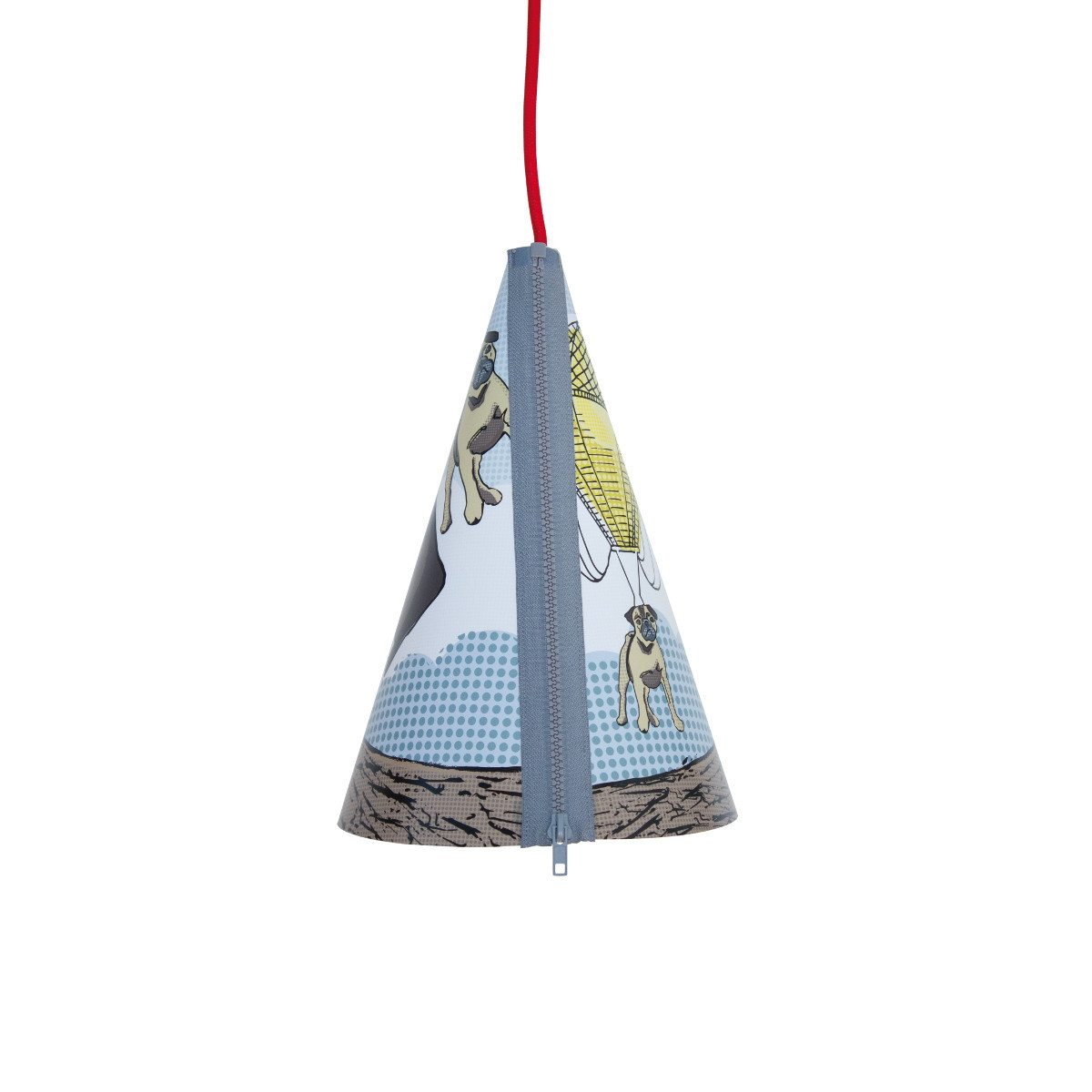 Poppiger Lampenschirm mit Reißverschluss