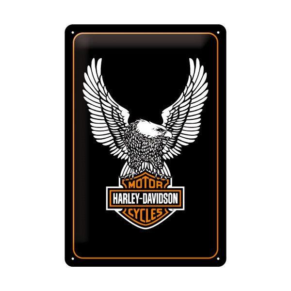 Retro blikskilt med Harley Davidson
