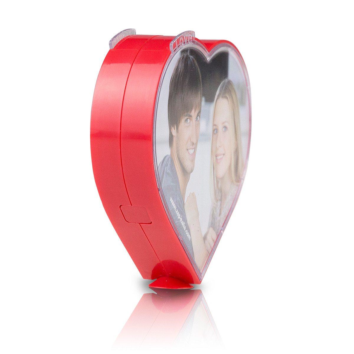 Roterende hjerteformet fotoramme