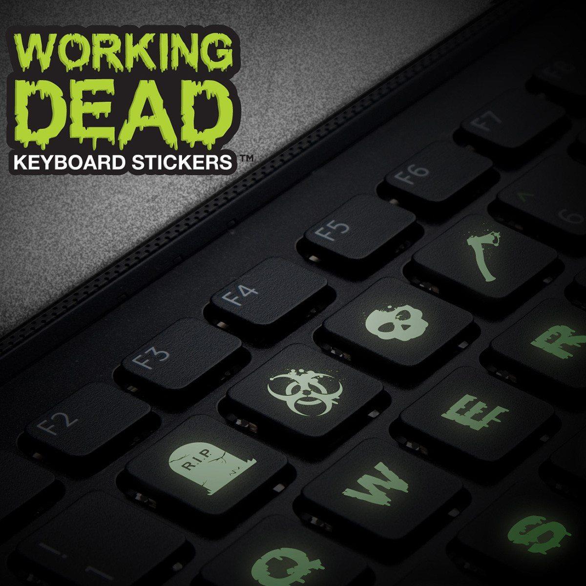 Selvlysende tastaturklistermærker