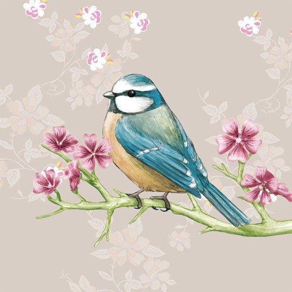Servitter med fuglemotiv