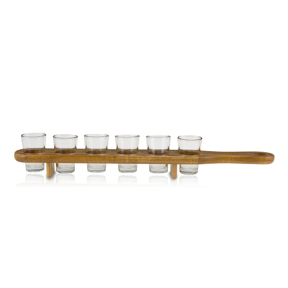 Shotsbræt med 6 shotglas - med og uden indgravering