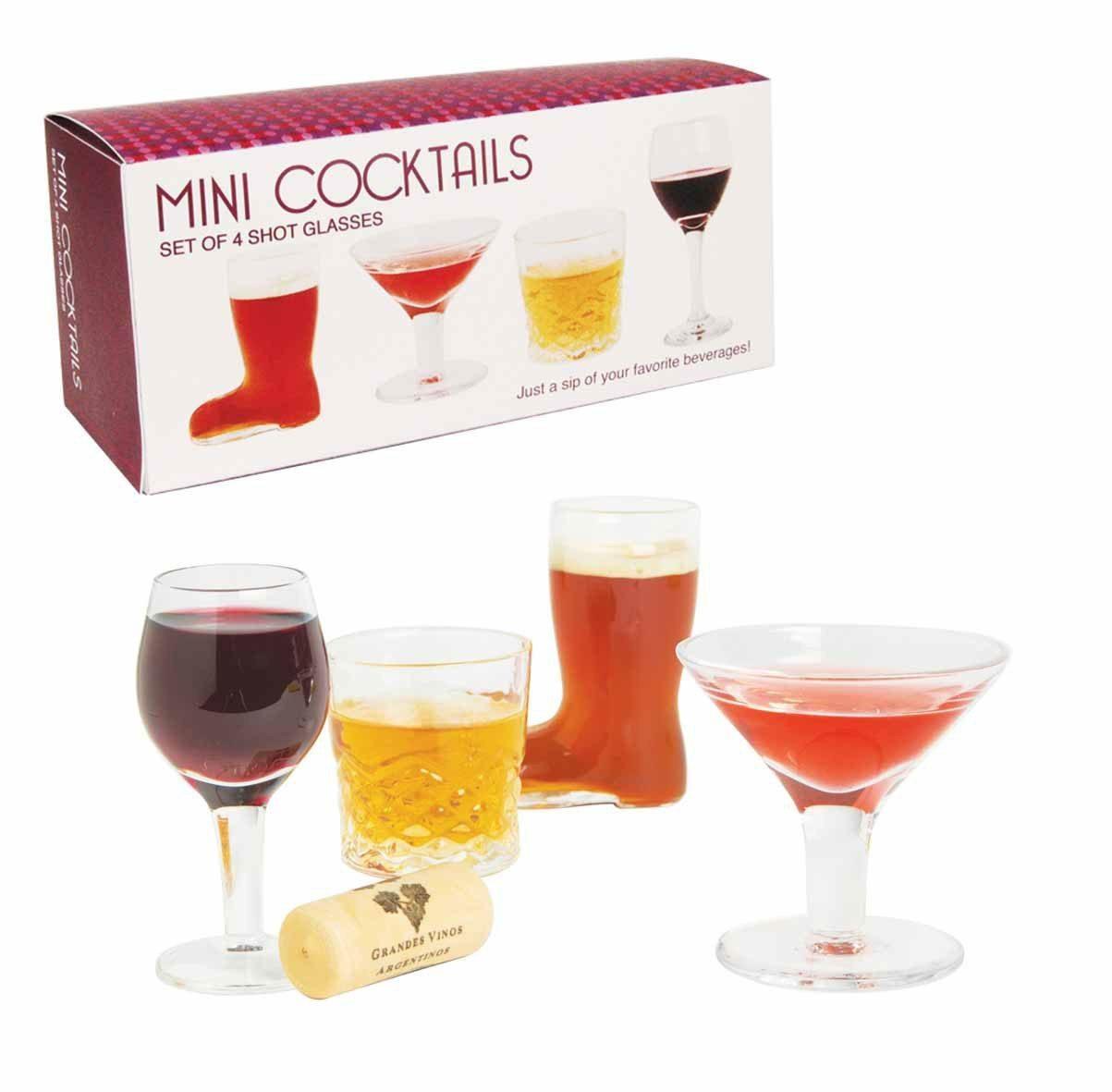 Shotsglas formet som mini-cocktails
