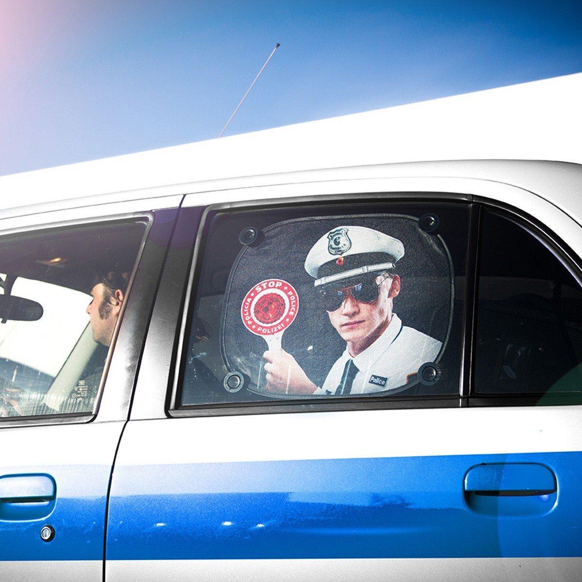 Sjov solskærm til bilen