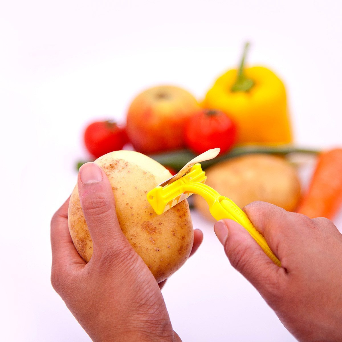 Skraberskræller til frugt og grønt