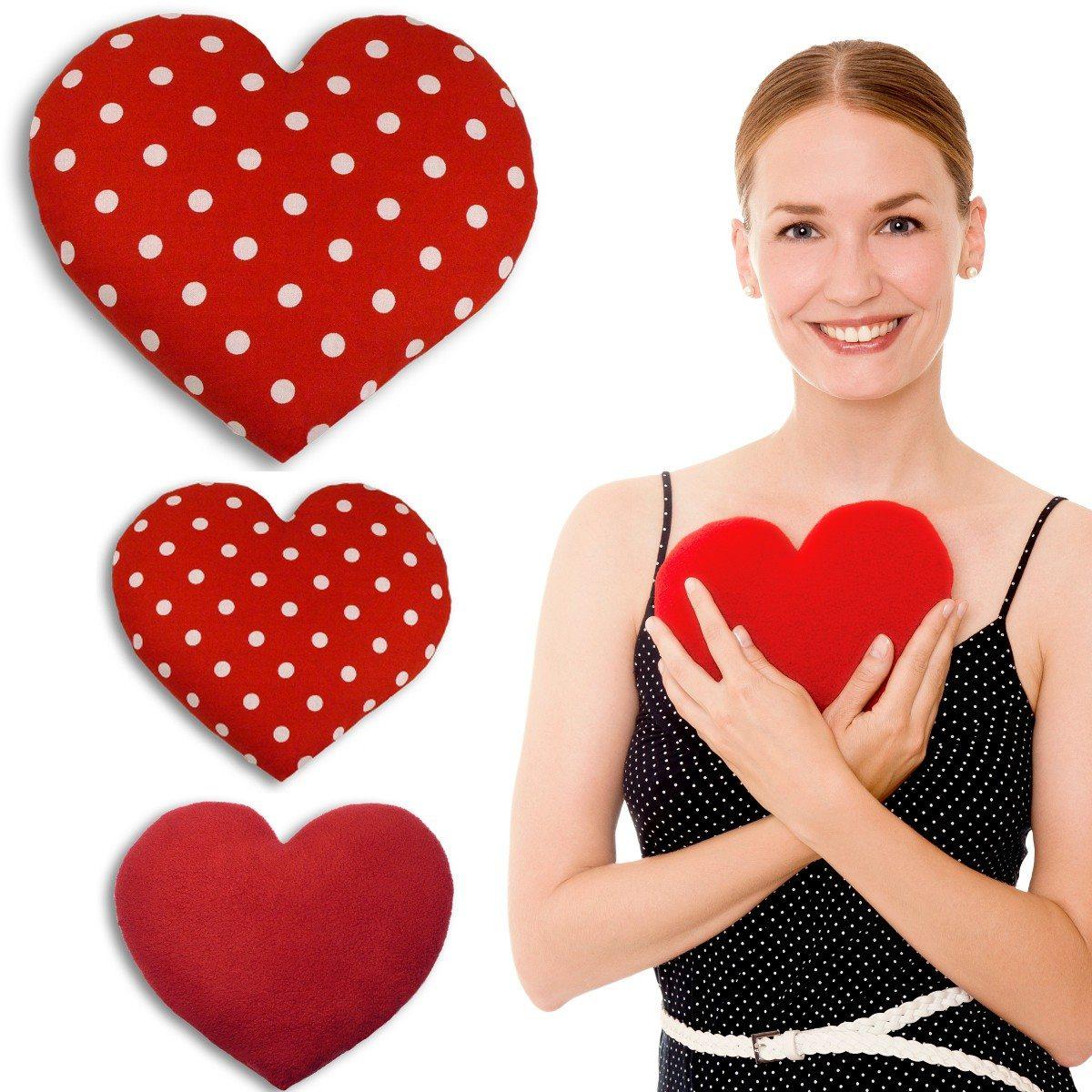 Sød hjerteformet varmepude