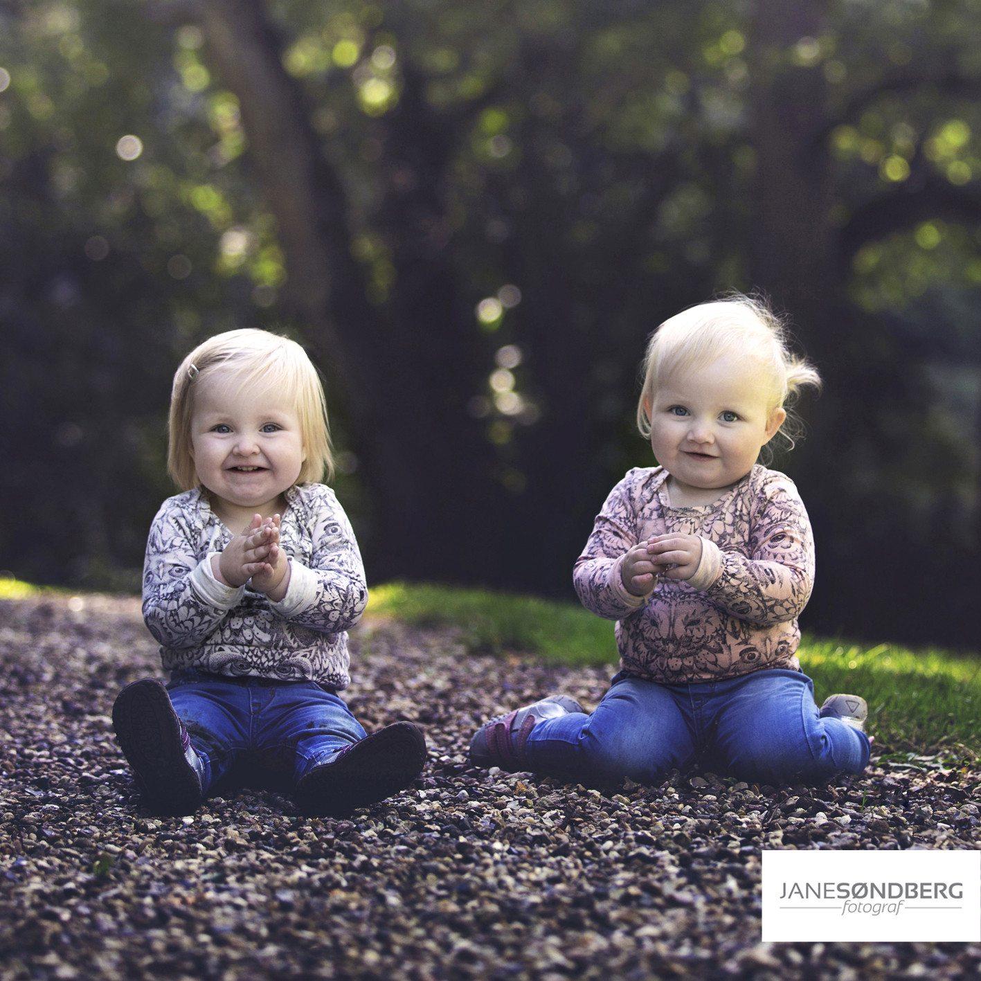 Søskende fotografering i det fri - Silkeborg